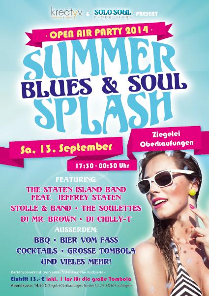 Blues & Soul Summer Splash Flyer