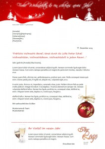 kreatyv Muster-Weihnachtsbrief last minute