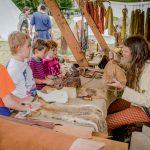 Keltenfest: Treveromagos Lederbearbeitung